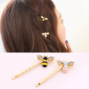 Know Connie hair Korea clips small bees by rhinestone clips the Korean version of a clip long clip hair clip bangs hair clips