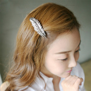 Cool na Korean vintage feather Starfish hair jewelry Korean style hair clip spring clip bangs issuing 6423