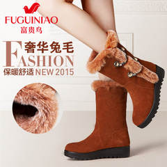 Rich bird 2015 winter boots in women's shoes leather women's boots and biker boots skid snow boots cotton boots women