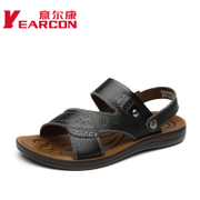 YEARCON/con men's summer 2015 new leather sandal casual dual-use fashion men's shoes