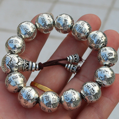 Precious Crystal heart bracelet S925 silver retro full heart bead bracelets bead jewelry and old customer benefits