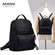 Ai Danni 2015 summer backpack new leather rivet women's fashion leather bags women bags of England College wind
