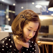 Know Richie Leopard print bow Korea jewelry hair clip bangs clip a clip by Korean hair jewelry