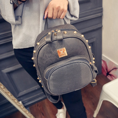 About female beauty for 2015 fall trend of the new Korean version mini rivets satchel shoulder bag student bags bag