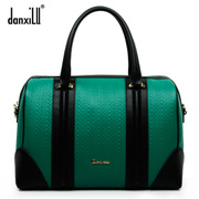 Europe 2015 new Candy-colored leather portable female Bao Danxi road shoulder handbag genuine boom bag color
