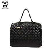 Wanlima/million 2015 new handbags for fall/winter shopping malls with large capacity water chestnut leather tote