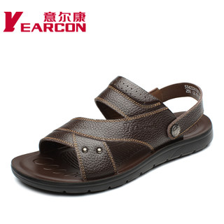 YEARCON/Kang authentic men shoes new 2015 summer leather fashion casual shoes men sandals