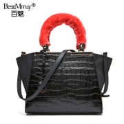 Hundreds of charming new leather crocodile pattern shoulder hand bag popular in European and American fashion handbag 2015 summer tide
