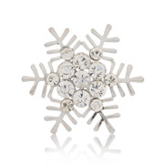 Love jewelry rhinestones brooch brooch exquisite snowflake brooch Joker Korean fashion jewelry women
