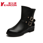 Welcome genuine comfortable women's shoes autumn with short tube rough with short boots in a pointed fashion women boots