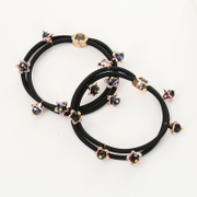 Know NI crystal flower jewelry sweet temperament based Joker double rope band hair band hair accessories