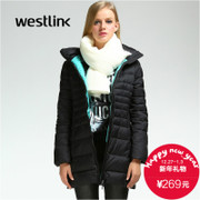 Westlink/West New 2015 winter simplicity in light warm-keeping slim slim long women down jacket