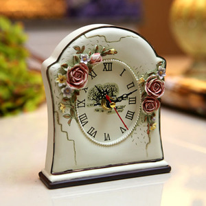 Special home accessories / bell decorations / resin non-alarm clock / retro table clock simple modern resin crafts gift