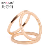 Simple temperament practical premium scarf buckle triple ring brooch Joker Korean stewardess scarves scarf scarves circle ring