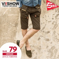 Viishow Joker Pocket shorts in summer small slim straight-leg slacks with shorts
