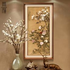 尚尚木莲 新中式玄关装饰画过道有框挂画走廊壁画玉堂富贵图