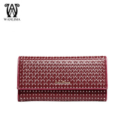 Wan Lima 2015 new leather purse wallet Europe fashion Lady long purse coin purse