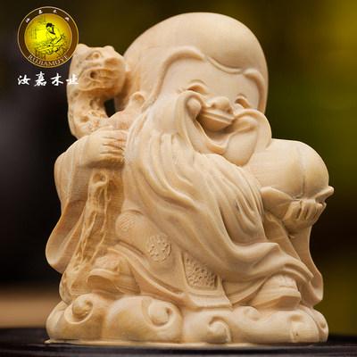 动物莆田木雕 中式 木摆件 小叶黄杨木雕刻 家居装饰工艺品把玩件