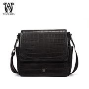 Wanlima/million 2015 new men's Messenger bag for fall/winter fashion big man bag crocodile grain bag