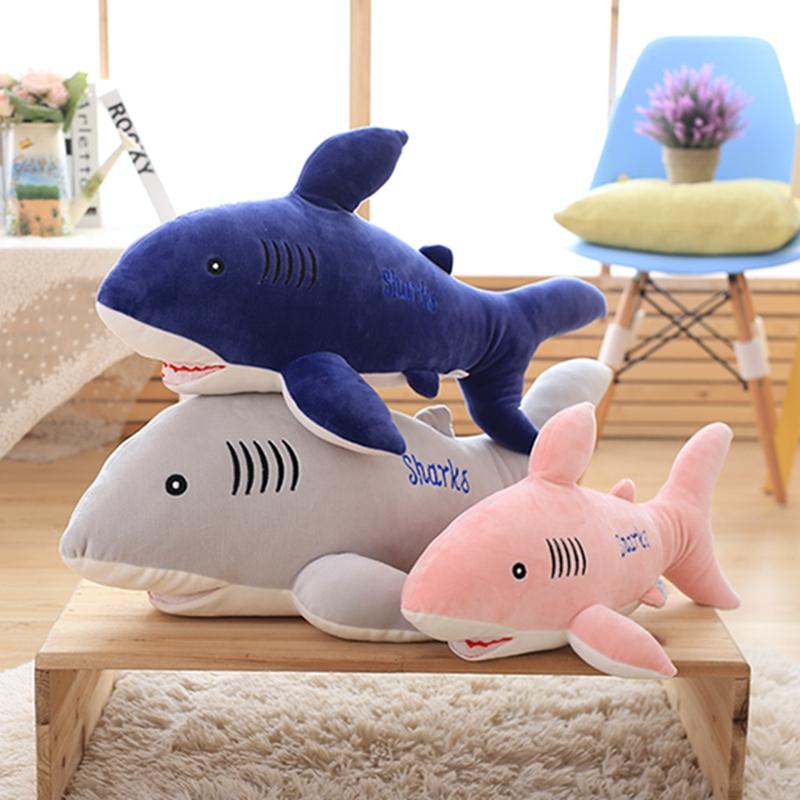 软趴趴大鲨鱼毛绒玩具公仔白鲨玩偶睡觉抱枕礼物抱枕男孩可爱娃娃