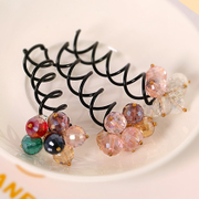Know Connie hair accessories fashion color Crystal plate screw clips issue Korean color drilling screw clip Barrette jewelry