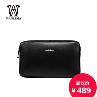 Wanlima/million 2015 fall/winter new products men's bags cow leather clutch bag solid business clutch