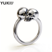 YUKI men''s 925 Silver ring Thai silver finger ring jewelry rings original design skull opening child health General