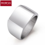 New year simple men''s rings aggressive punk Japanese and Korean character accessories fashion titanium steel ring engraving