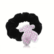 Korea new five petal flower diamond ring rhinestone tiara hair string band Flower flower hair band Korean hair accessories