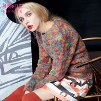 妖精的口袋 信天翁 秋装新款女简约甜美时尚百搭套头长袖毛衣