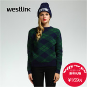 Westlink/West New rhombic 2015 winter knit shirts girl t at the end of the first thick sweater
