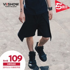 Summer viishow2015 new five shorts men's elastic cotton pants men's hakama stylish pants