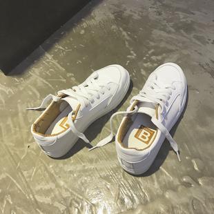 2017小白鞋白色帆布鞋女学生