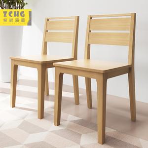 全实木书椅电脑椅餐椅书房实木椅子餐桌椅餐厅组合家具书桌椅