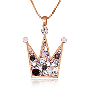 Mail compose good Korea fashion jewelry accessories decorative Crown Joker long necklace