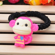 Ya-na Korean super cute Candy-colored monkey rope string mouth monkey Yau giggle rubber band