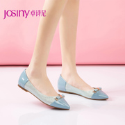 Zhuo Shini spring 2015 new minimalist shoes with pointy patent leather flat pumps, women shoes 151610370