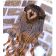 Contract header of the sweet Japanese sponge hair ball hair bud the hair ring post decorations