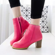 2015 in the autumn and the new Korean version with added cashmere coarse with winter boots women''s boots side zipper short boots women''s tide