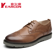 YEARCON/er Kang genuine autumn new leather trends yinglunbuluoke men's shoes men's casual shoes