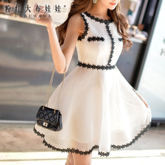 Dresses and skirts in summer pink doll 2015 new women's skinny fields breathe sweet and put on organza skirt