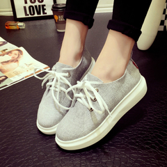 Hero sheep fall 2015 sneakers women's shoes trend student shoes with flat thick-soled platform shoes strap casual shoes