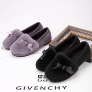 2015 new Korean version of autumn and winter fur shoes flat bottom flat and plush cotton-padded shoes versatile floating shoes leisure shoes women boomers