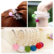 Know Richie tiara hair accessories Korean balls Candy-colored thick line hair band hair band rope