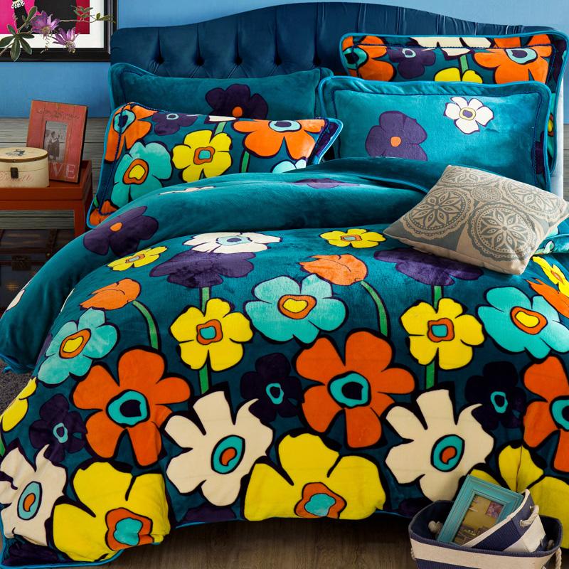 法莱绒四件套加厚加绒韩版床裙冬季珊瑚绒1.8m床单被套保暖法兰绒
