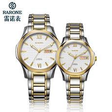 雷诺 情侣手表商务经典全自动镂空机械表进口机芯时尚腕表大表盘