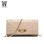 Wan Lima 2015 spring new style handbag fashion chain of small fields breathe sweet rhombic baodan shoulder Messenger bags evening bag