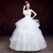 Bride wedding dress fashion Korean new 20,151 shoulder wedding dress spring/summer shoulder plus size slimming