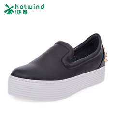2016 thick-soled platform shoes girl Korean version of hot air Academy wind Lok Fu shoes, pedals and leisure shoes women H13W6177