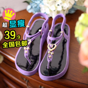 C2015 summer Korean skid casual shoes Sandals Sandals flat pregnant women schoolgirls Luo Machao